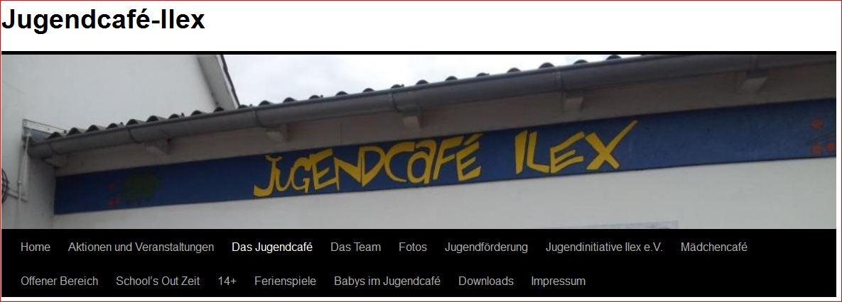 Banner Jugendcafe Ilex